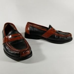 Florsheim Brown and Black Leather Penny Loafers